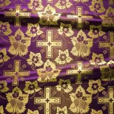 Парча фіолетова «Хрест Діонісія»