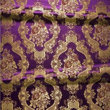 Парча фиолетовая «Рождественская»