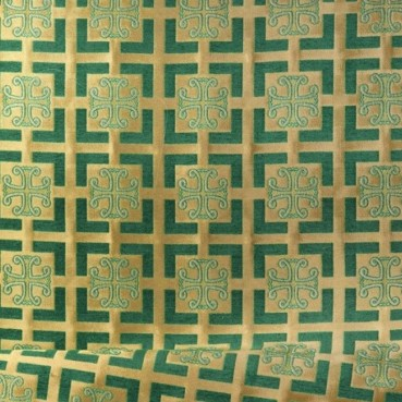 ☦️BROCADE YELLOW WITH GREEN (CAPERNAUM) •  buy | for sale