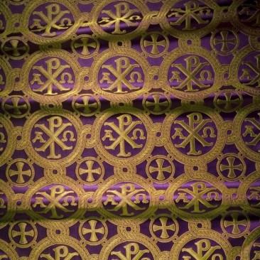 Парча фіолетова «Альфа і омега»