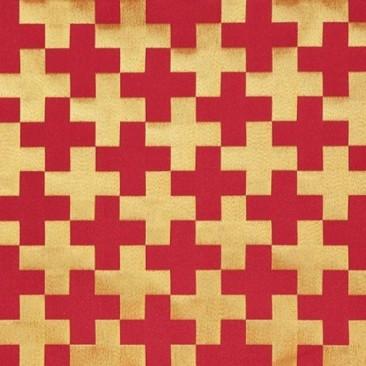 Ткань церковная для облачений красная «Георгиевская»