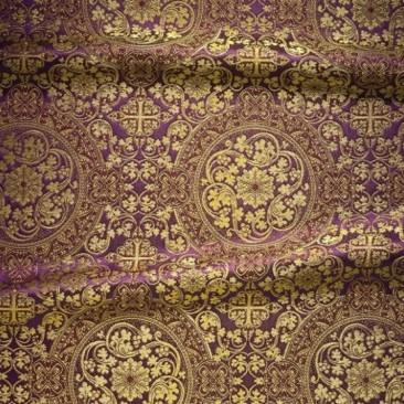 Парча фиолетовая «Кустодия»