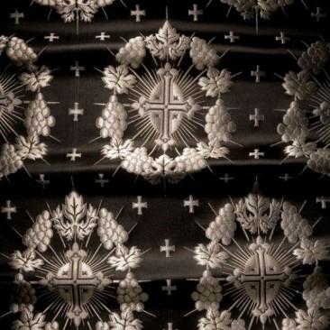 Парча черная «Рождественская звезда»
