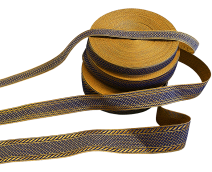 Галун синій з золотом «Ефес»