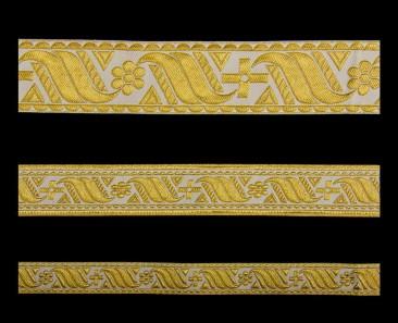 Галун «Афон» белый с золотом