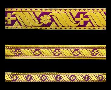 Галун «Афон» фиолетовый с золотом