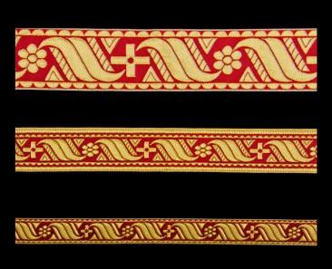 Галун «Афон» красный с золотом