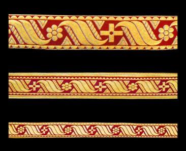 Галун «Афон» бордовый с золотом