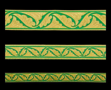 ☦️GALLOON (POLISTAVRY) GREEN WITH GOLD •  buy | for sale >>> ORTHODOX