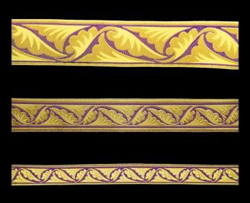 Галун «Полиставрий» фиолетовый с золотом