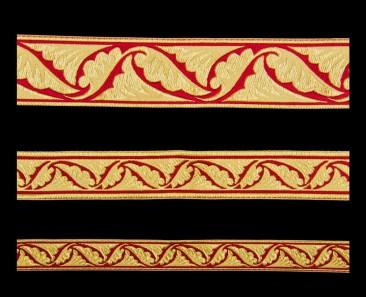 Галун «Полиставрий» красный с золотом