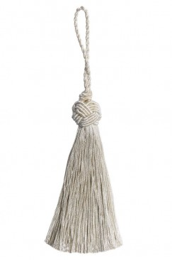 Twisted thread tassel silver