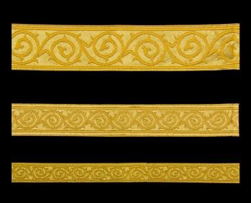 Галун «Голгофа» желтый с золотом