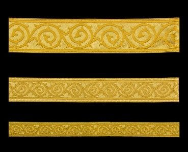 ☦️Галун «Голгофа» желтый с золотом | КУПИТЬ >> Украина | Киев • Аксессуары и фурнитура