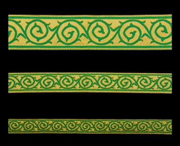 Galloon (Golgotha) green with gold
