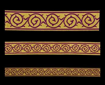 Галун «Голгофа» фиолетовый с золотом