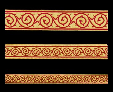 Galloon (Golgotha) red with gold