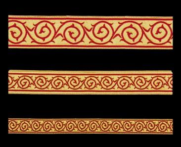 Галун «Голгофа» красный с золотом