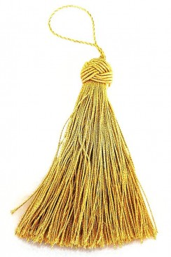 Tassel 8 cm light gold