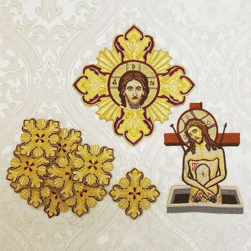 Комплект крестов для облачения греческого