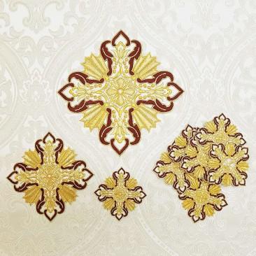 Комплект вишитих хрестів для грецького облачення