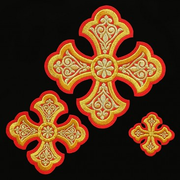 Embroidered Set of Crosses for Deacon Vestment (Ostrog)