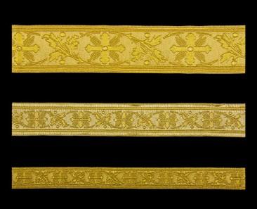 Галун «Виноградная лоза» золото с золотом