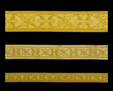 ☦️Галун «Виноградная лоза» золото с золотом | КУПИТЬ >> Украина | Киев • Аксессуары и фурнитура