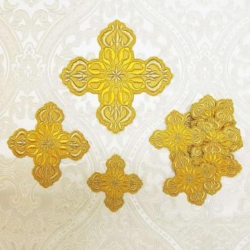 Набір жовтих хрестів для грецького облачення