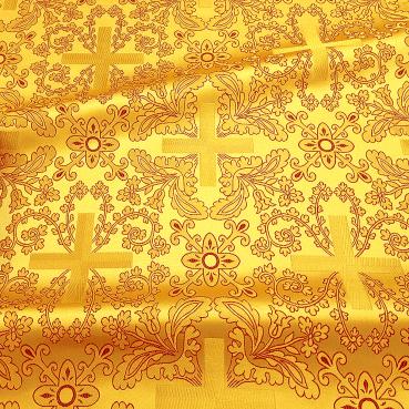 ☦️ПАРЧА ЖЕЛТАЯ ЦЕРКОВНАЯ «КРЕСТ ВОСКРЕСЕНИЕ» •  купить | цена >>> Украина | Киев