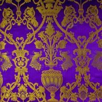 Парча «Райский сад» фиолетовая