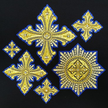 Set of Crosses for Bishop Vestments (Christmas)