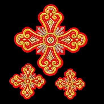 Вышитые кресты для облачения диакона «Княжна»