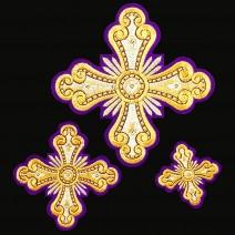 Кресты комплектом для диаконского облачения «Княжич»