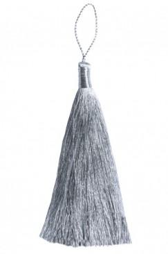 Кисточка из прямой нити 11 см в серебре