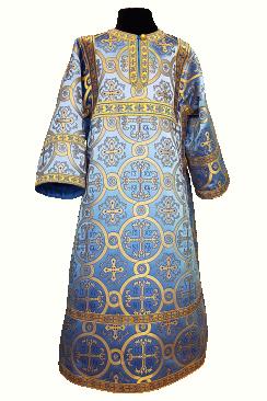 Стихарь детский синий с золотом (рост 134-146)