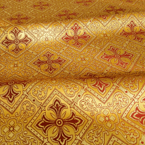 Ткань для церковной одежды желтая «Королевская лилия»