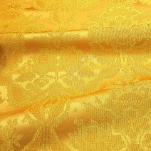 Ткань желтая церковная «Рождество Богородицы»