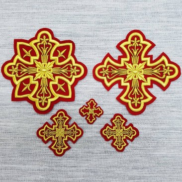 Embroidered Crosses for Vestments