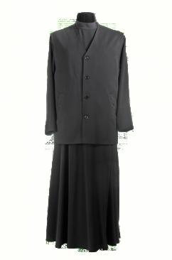 Жилет священника мужской зимний с вышивкой на кармане